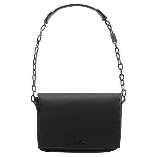Calvin Klein NIGHT OUT MEDIUM SHOULDER Torba na ramię black, kolor czarny