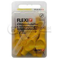 TANDEX Flexi 6szt. BOX 0.70-3.5mm (ŻÓŁTE) - pudełko 6 szczoteczek międzyzębowych (fine)