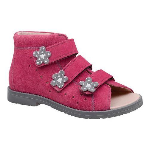 Sandałki Profilaktyczne Ortopedyczne Buty DAWID 1042 Różowe RCSZ - Różowy ||Fuksja ||Multikolor