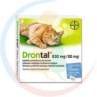 Bayer Drontal tabletki odrobaczające dla kota: opakowanie - 10 sztuk