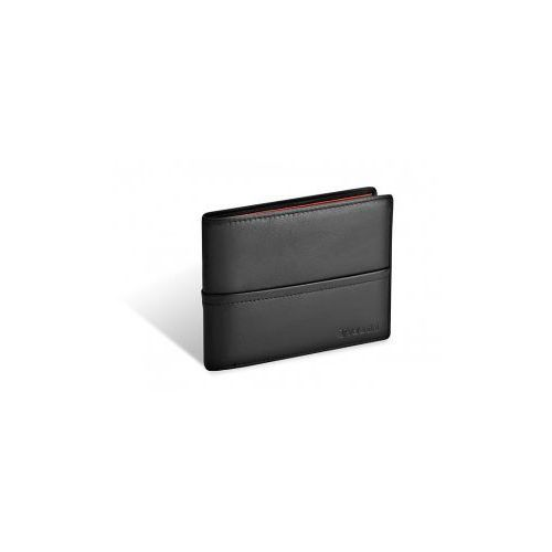 VALENTINI portfel męski skóra naturalna model 154-267 kolekcja Black & Ferrari Red, 154 - 267