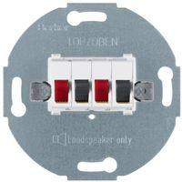 Berker  one.platform mechanizm gniazda głośnikowego stereofonicznego podwójnego, biały 457309 (4011334051190)