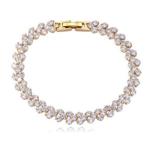 Br599/821 bransoletka ślubna żółte złoto z cyrkoniami marki Mak-biżuteria