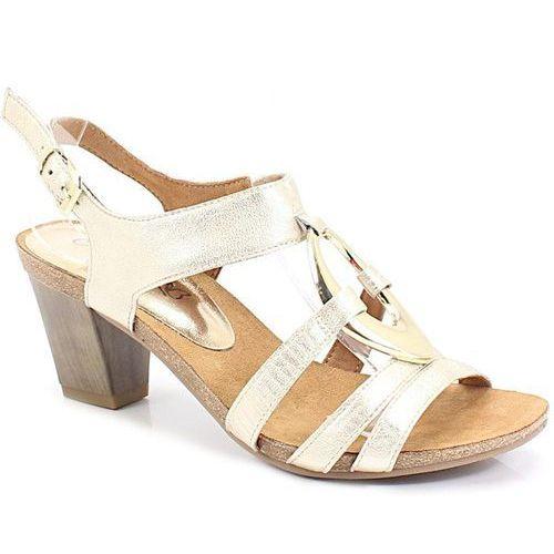 9-28308-22 złote - wygodne sandały, Caprice