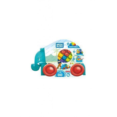 Mattel Mega bloks spacerowy słonik z klockami