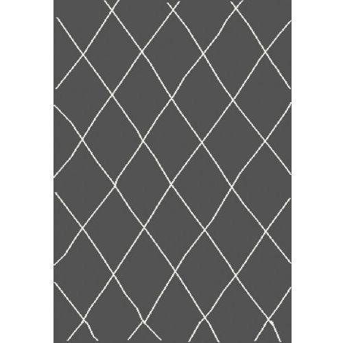 Dywan Shaggy Eco Komfort Mila 160x230 Ciemny Szary Biały Romby Krata Myretail