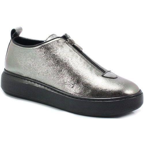 02261200019y srebrne - sneakersy, skóra, Venezia