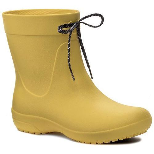 Crocs Kalosze - freesail shorty rainboot 203851 lemon