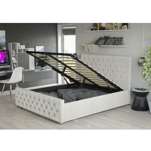 łóżko Tapicerowane Do Sypialni 140x200 2230g Beż Meblemwm