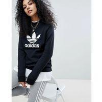 adidas Originals adicolor Trefoil Oversized Sweatshirt In Black - Black
