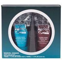 Marvel Comics Hero zestaw Żel pod prysznic 150 ml + Żel do golenia 150 ml dla mężczyzn, 97423