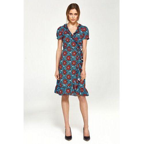 f2a5da96b6 Letnia sukienka z falbanami - kwiaty - S99 (Nife) - sklep ...