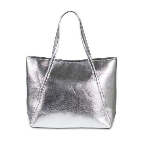 1cccb5c7740b46 Zobacz w sklepie Torba shopper metaliczna bonprix srebrny metaliczny