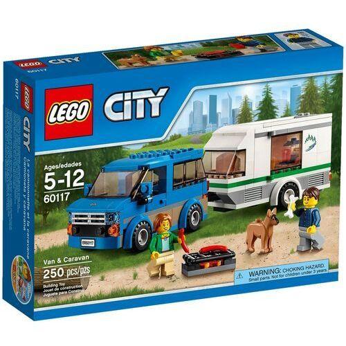 60117 WÓZ Z PRZYCZEPĄ KEMPINGOWĄ Van & Caravan KLOCKI LEGO CITY