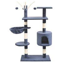 vidaXL Drapak dla kota z sizalowymi słupkami, 125 cm, granatowy