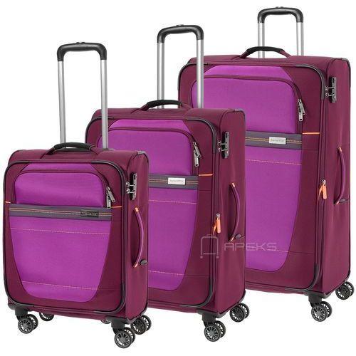 1c41a3b4127ad meteor zestaw walizek / komplet / walizki na 4 kółkach / fioletowy -  fioletowy marki Travelite