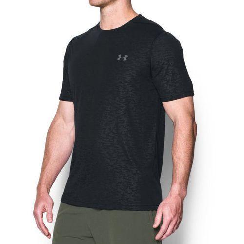 Under armour koszulka threadborne ftd emboss ss czarna - czarny