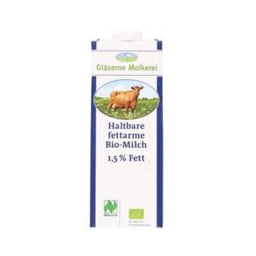 GLASERNE MOLKEREI 1l Mleko 1,5% UHT Bio