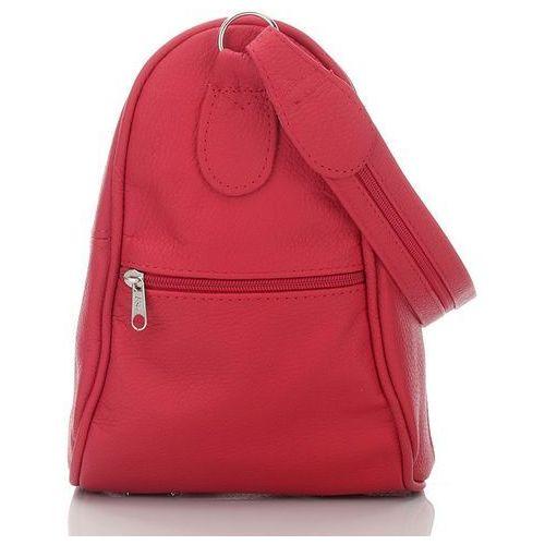 86082e38b0420 Czerwona skórzana torebka damska i plecak w jednym - czerwony