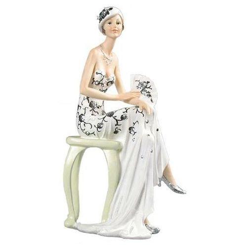 Figurka Art Deco Broadway Belles w białej sukni