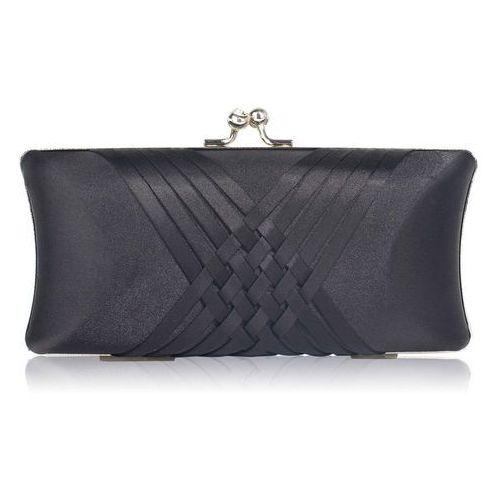 008bf874a6068 Wielka brytania Gładka satynowa torebka wizytowa szkatułka czarna - czarny  - galeria