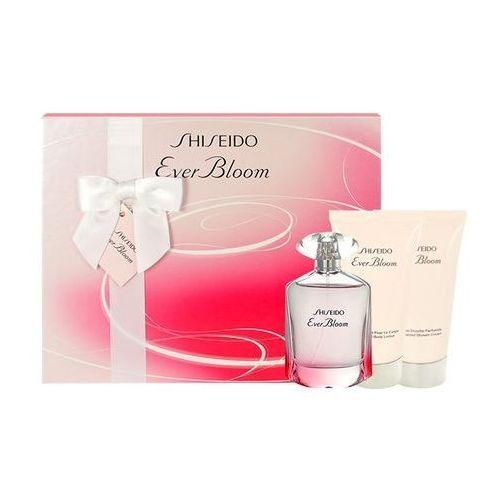 Shiseido Ever Bloom, Zestaw podarunkowy, woda perfumowana 50ml + mleczko do ciała 50ml + Żel pod prysznic 50ml