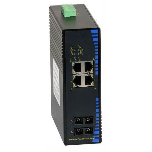 Import 124p-4poe-20 switch przemysłowy poe ultipower 4xfe poe, 2xfo sc 100mb/s 20 km