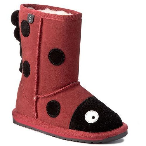 Buty - little creatures lady bird k10111 red/rouge marki Emu australia