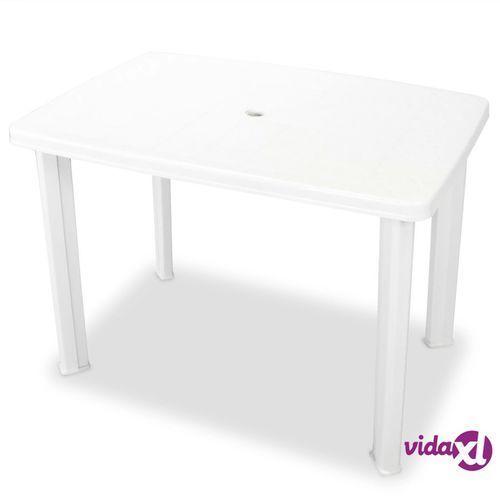 Stół Ogrodowy Plastik Biały 101 X 68 72 Cm Vidaxl