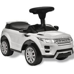 vidaXL Land Rover 348 Samochód dla dzieci z muzyką, kolor biały