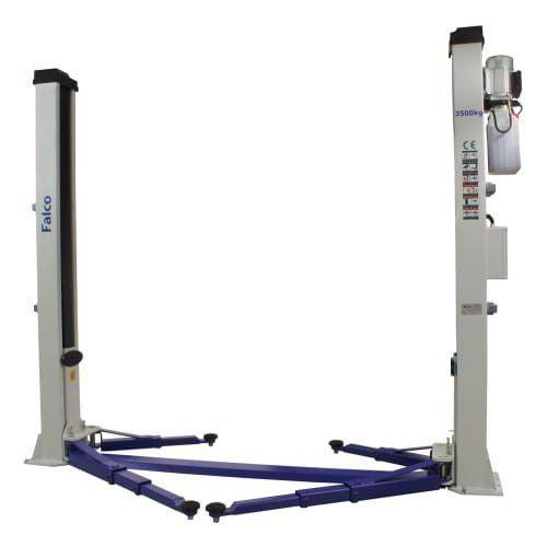 Podnośnik dwukolumnowy samochodowy elektryczno hydrauliczny 3500 kg, 400 v marki Falco sollevatori