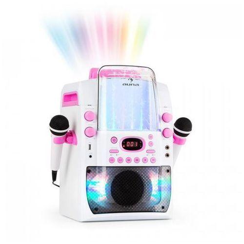 Auna kara liquida bt zestaw karaoke show świetlne fontanna bluetooth biały/różow (4260509681391)