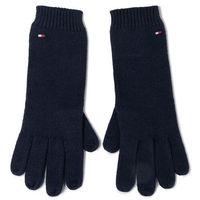 Rękawiczki Damskie TOMMY HILFIGER - Flag Knit Gloves AW0AW07197 CJM