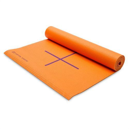 Capitals Sports mata do jogi mata gimnastyczna 173 x 60cm pomarańczowa torba na ramię
