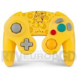switch pad bezprzewodowy gamecube style pikachu marki Powera