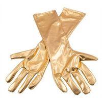 Rękawiczki karnawałowe złote - cm.