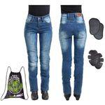 Damskie jeansowe spodnie motocyklowe W-TEC Panimali, Niebieski, L