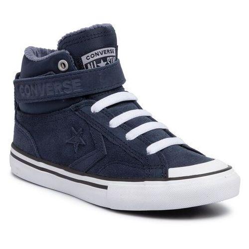 Converse Sneakersy - pro blaze strap hi 665279c obsidian/wolf grey/white
