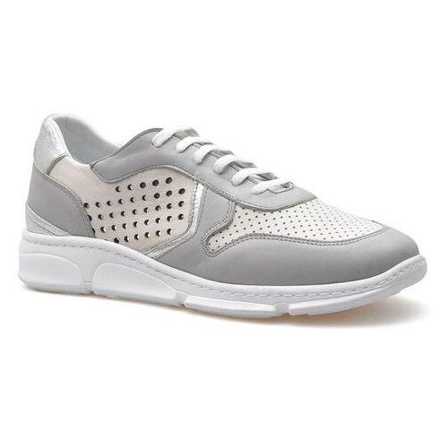 Sneakersy 2097 białe/szare marki Venezia