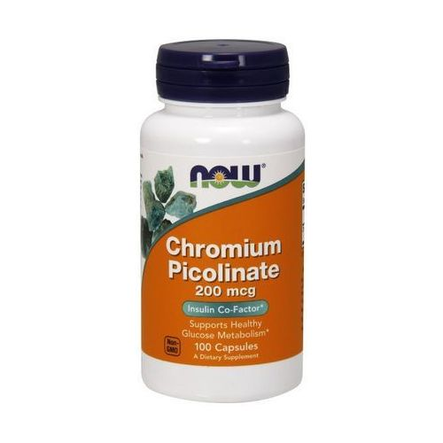 Kapsułki Now Foods Chrom Pikolinat Chromium Picolinate 100 kaps