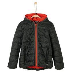 pikowana kurtka zimowa chłopięca m czarno-szara marki S.oliver