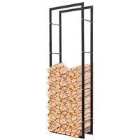 Vidaxl stojak, prostokątny kosz na drewno kominkowe 150 cm