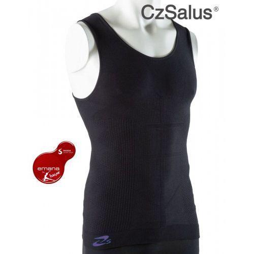 Koszulka męska z włókna emana® przeciwcellulitowa, odmładzająca skórę, wyszczuplająca, zmniejszająca zmęczenie mięśni - biała, grafitowa - prod. beautysan, Czsalus (włochy)