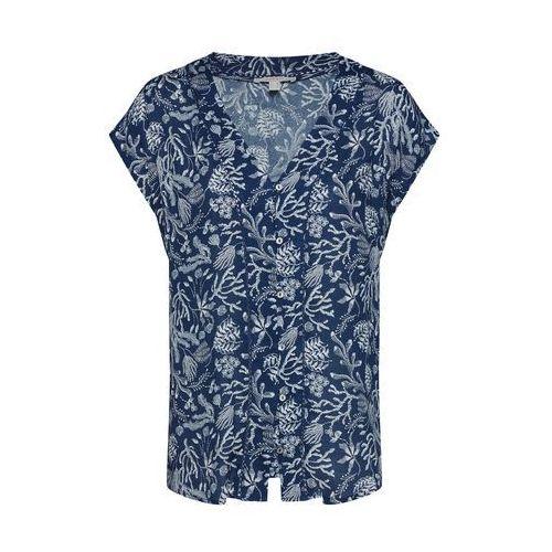 ESPRIT Bluzka atramentowy / biały, kolor niebieski