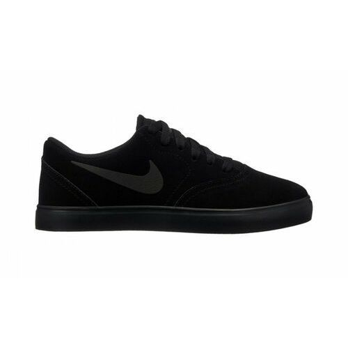 Buty sb check suede (gs) czarne marki Nike
