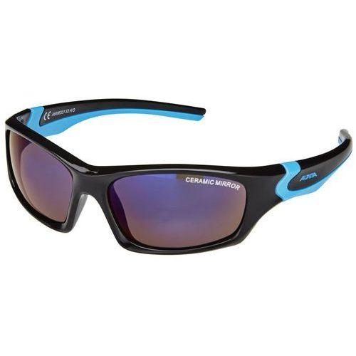 Alpina flexxy teen okulary dzieci, black-cyan 2019 okulary przeciwsłoneczne dla dzieci
