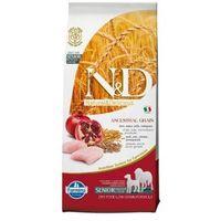 N&d low grain chicken & pomegranate senior mini&medium 2,5kg (8010276030535)