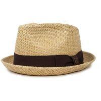 kapelusz BRIXTON - Castor Fedora Tan Stripe (TNSTR) rozmiar: M