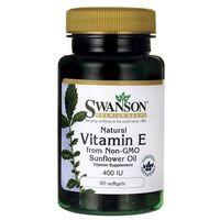 Kapsułki Witamina E naturalna 400IU z oleju słonecznikowego 60 kaps.