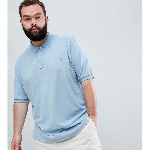 f9963a2ccfa Polo Ralph Lauren Big   Tall pique polo player logo in light indigo blue -  Blue